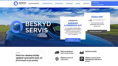 tvorba webové stráneky pro Beskydservis