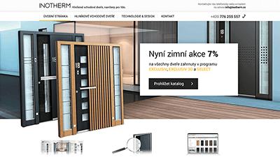 tvorba webové stráneky pro Inotherm